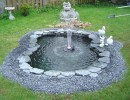 Готовый водоем в саду