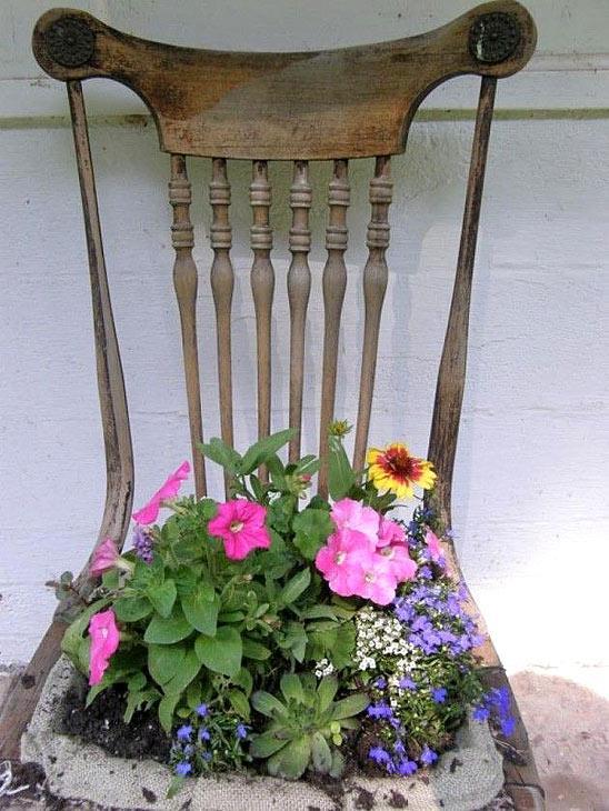 Необычные садовые горшки для цветов