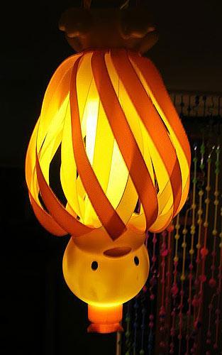 Светящиеся фонарики из пластиковых бутылок